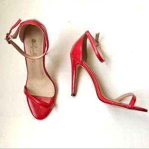 Only Maker sexy red stilettos